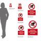 Cartello vietato introdurre la mani: misure adesivo / alluminio