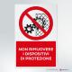 Cartello non rimuovere i dispositivi di protezione