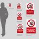 Cartello non rimuovere i dispositivi di protezione: misure plexiglass