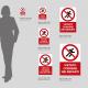 Cartello vietato correre nei reparti: misure plexiglass