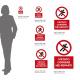 Cartello vietato correre nei reparti: misure adesivo / alluminio