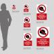 Cartello vietato indossare il cappello: misure plexiglass