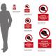 Cartello vietato indossare il cappello: misure adesivo / alluminio