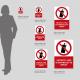 Cartello vietato l'uso di bombolette spray: misure plexiglass