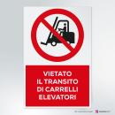 Adesivo vietato il transito di carrelli elevatori