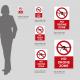 Cartello No drone zone: misure plexiglass