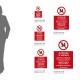 Cartello Vietato fare attività su strada: misure adesivo / alluminio
