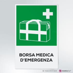 Cartello Borsa medica d'emergenza