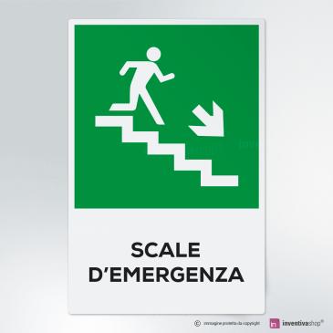 Cartello Scale d'emergenza