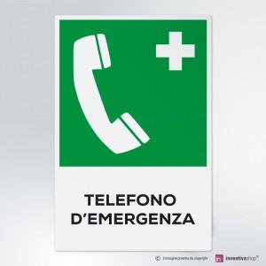 Cartello Telefono d'emergenza