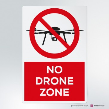 Cartello No drone zone