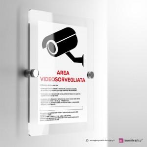 Cartello Plex: Area videosorvegliata.