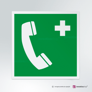 Cartello Telefono d'emergenza E004