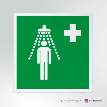 Cartello doccia d'emergenza E012