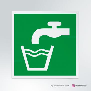 Cartello acqua potabile E015