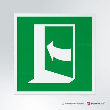 Cartello apertura porta E022