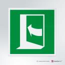 Cartello plexiglass su parete con distanziatori: apertura porta E022-E023