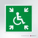 Adesivo rifugio temporaneo d'emergenza disabili E024