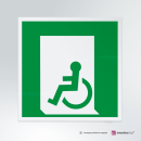 Cartello Uscita d'emergenza disabili E026