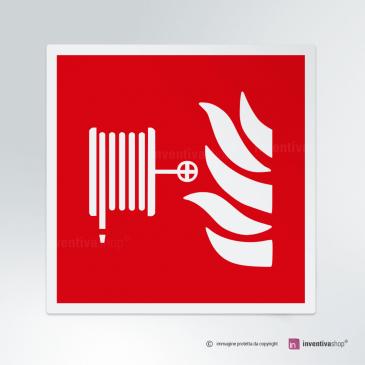 Cartello Lancia antincendio F002