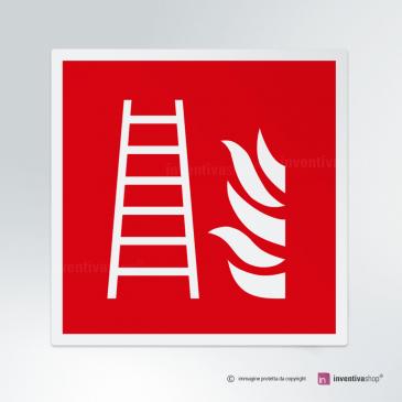 Cartello Scala antincendio F003