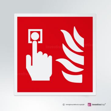 Cartello Interruttore allarme antincendio F005