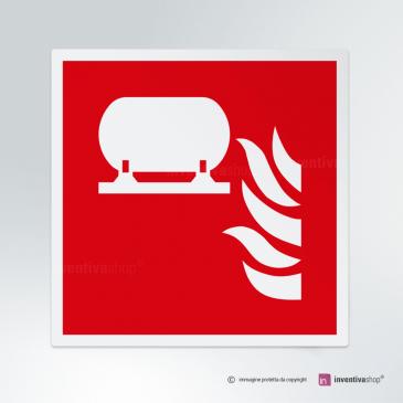 Cartello installazione fissa estinzioni incendi F012