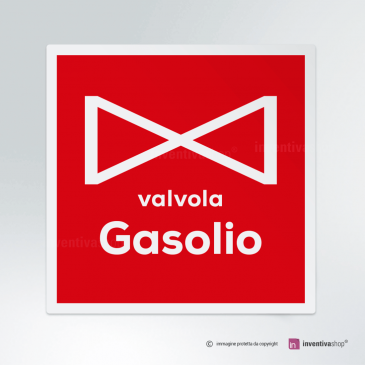 Cartello Valvola gasolio