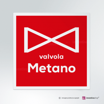 Cartello Valvola metano