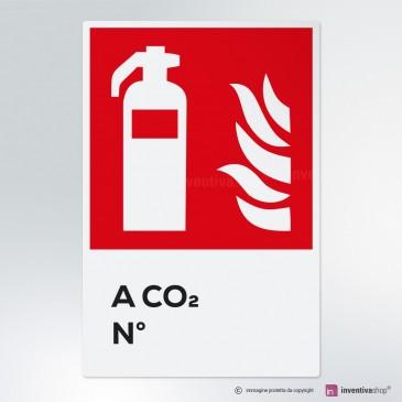 Cartello Estintore a Co2 numerato antincendio
