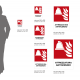 Cartello Attrezzatura antincendio: misure adesivo / alluminio