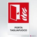 Cartello Porta tagliafuoco antincendio