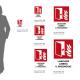 Cartello Lasciare libero il passaggio-Porta tagliafuoco antincendio: misure adesivo / alluminio