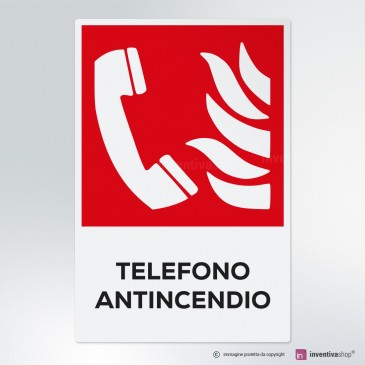 Cartello Telefono antincendio