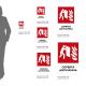Cartello Coperta antifiamma antincendio: misure adesivo / alluminio