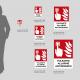 Cartello Pulsante allarme antincendio: misure plexiglass