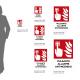 Cartello Pulsante allarme antincendio: misure adesivo / alluminio