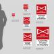 Cartello Valvola Intercettazione antincendio: misure plexiglass