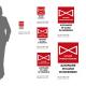 Cartello Valvola Intercettazione antincendio: misure adesivo / alluminio