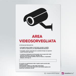 Cartello multi-materiale: Area videosorvegliata
