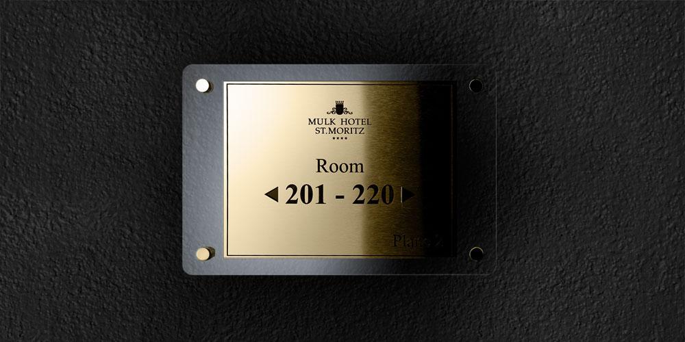 Targhe incise per hotel