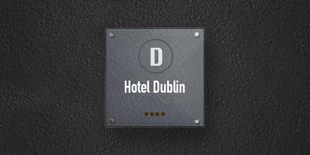 targa plexiglass per hotel, alberghi, b&b, ostelli