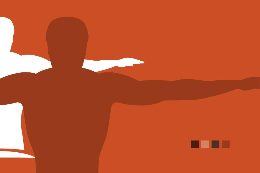 Logo per fisioterapisti colore arancione