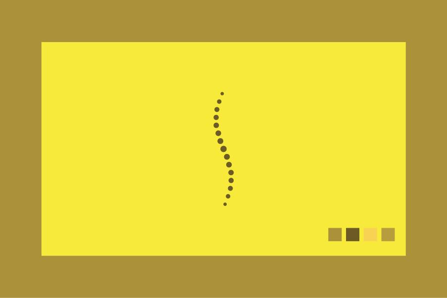 Logo per fisioterapisti colore giallo