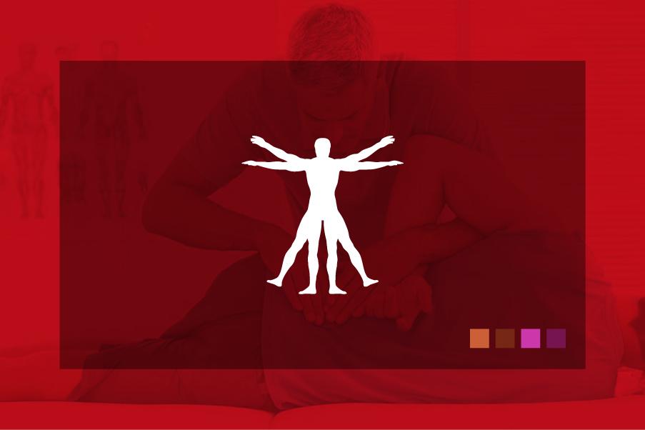 Logo per fisioterapisti colore rosso