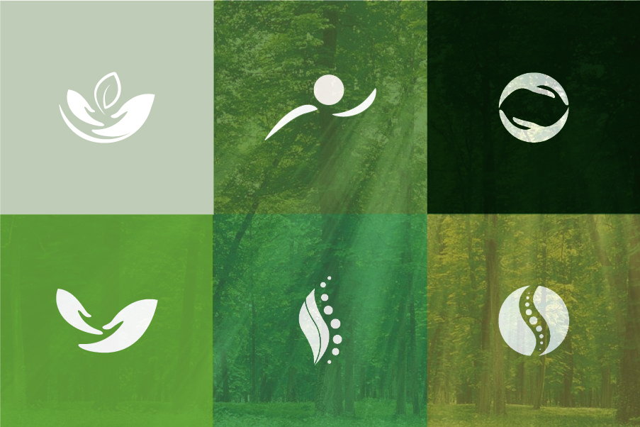 Colore per il logo di un fisioterapista verde