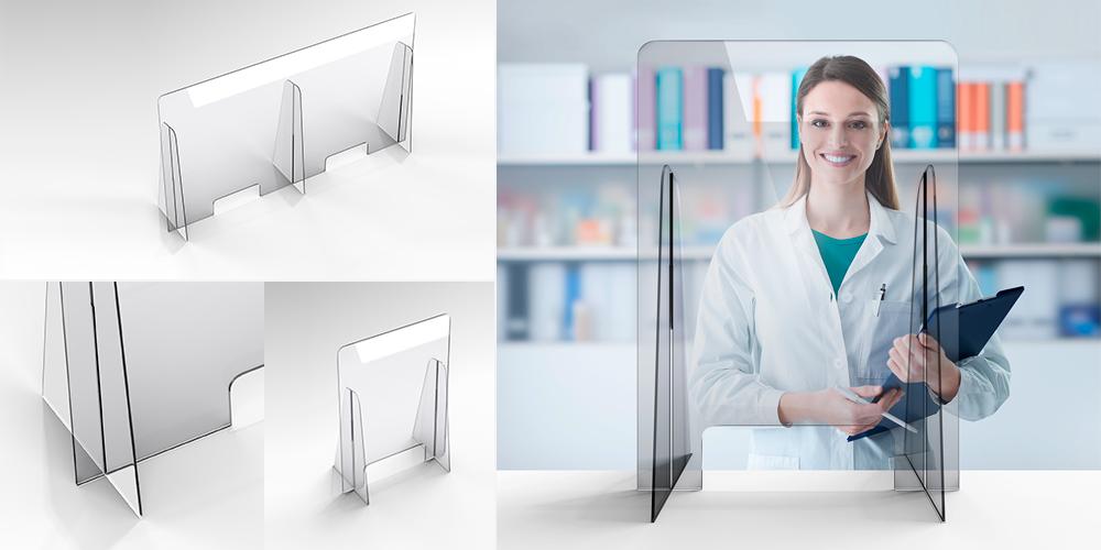 Paratie in plexiglass e protezioni per studi dentisitico, studio medico, studi notarili, e avvocati