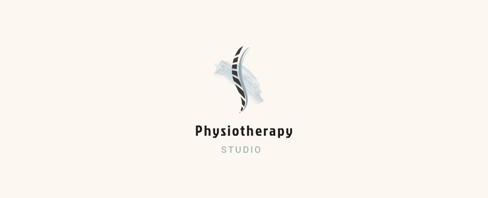 Esempio di pittogramma con logotipo per studio fisioterapico