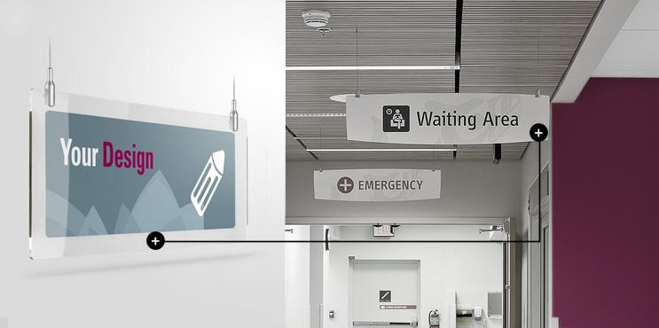 Segnaletica per ospedali in plexiglass personalizzata e sicurezza