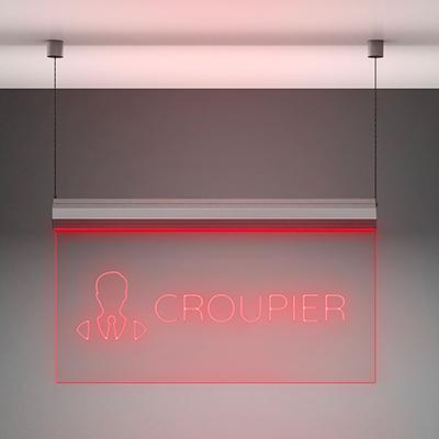 Insegna luminosa da interno: Croupier.